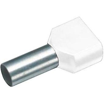 Twin ferrule 2 x 0.75 mm² x 8 mm Partially insulated White Cimco 18 2432 100 pc(s)