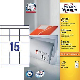 Avery Universal Labels, White 70x50,8mm Avery-Zweckform 3669
