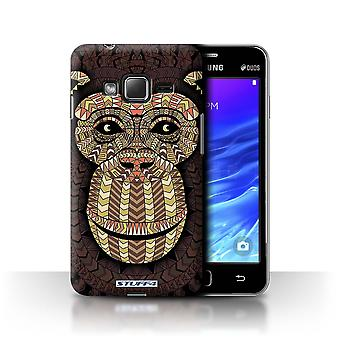 STUFF4 Tilfelle/Cover for Samsung Z1/Z130/Monkey-Sepia/Aztec dyr
