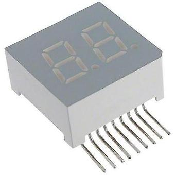 Seven-segment display Red 7.62 mm 2 V No. of digits: 2