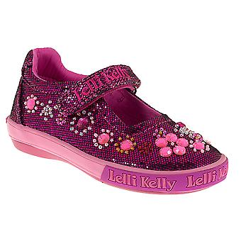 Lelli Kelly Rachele LK3110 Dark Pink Glitter Canvas Shoes
