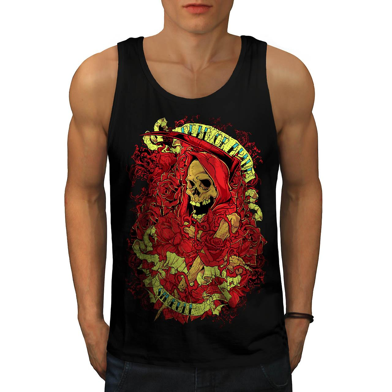 Dead Or Alive Sinfull Death Robe Men Black Tank Top | Wellcoda