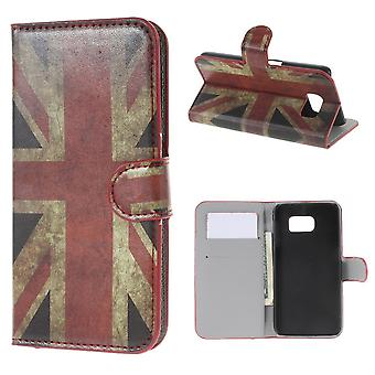 UK flag leather PU cover for Samsung Galaxy S6