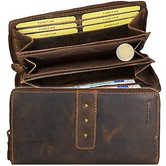 GREEN country classic zipper Buffalo leather purse for 2530-25