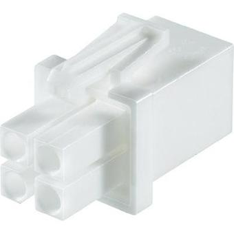 Pin enclosure - cable Universal-MATE-N-LOK Total number of pins 4 TE Connectivity 172338-1 Contact spacing: 4.14 mm 1 pc