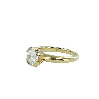 ESPRIT collection ladies ring Silver Gold cubic zirconia Solaris Gr. 18 ELRG92338B180