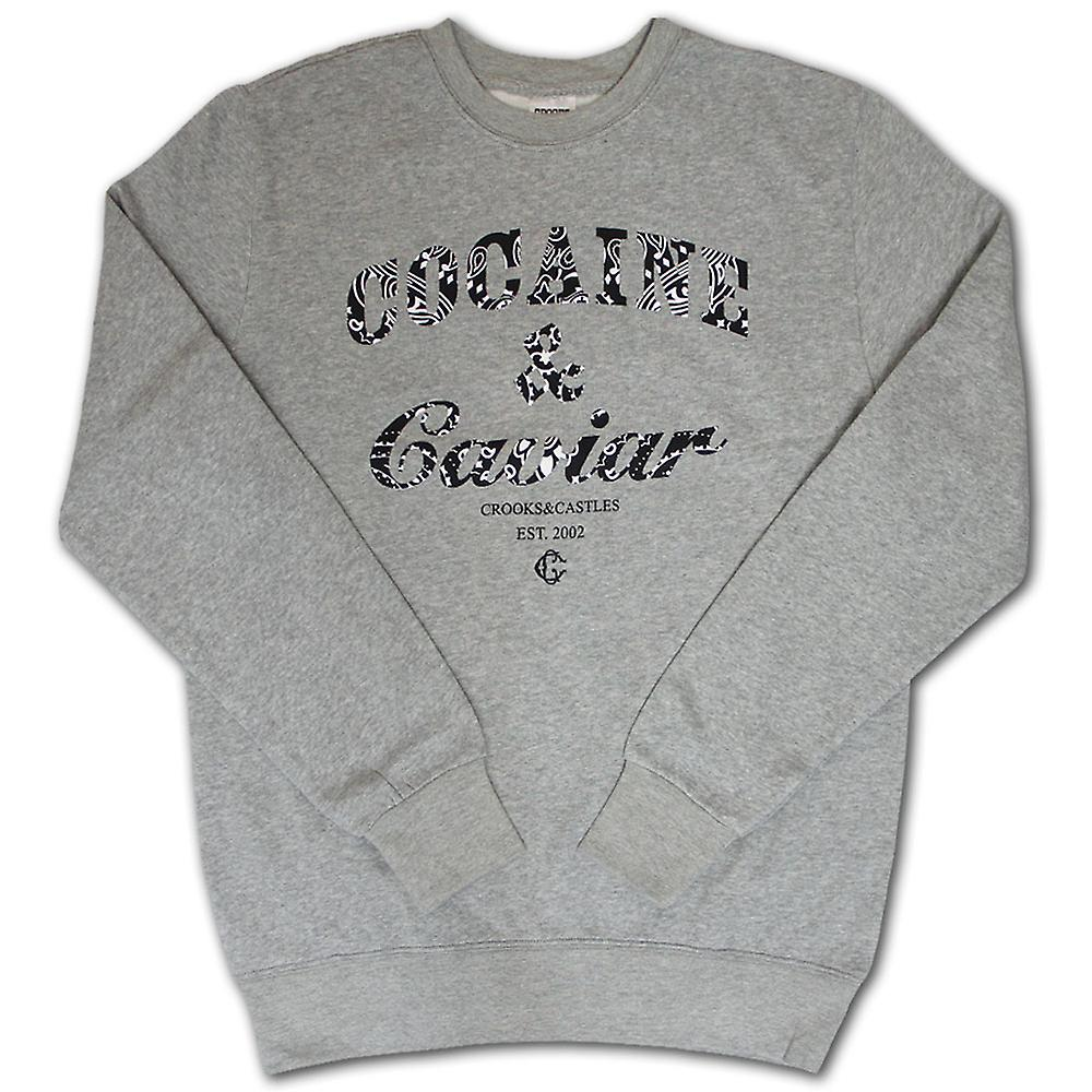 Oplichters & kastelen cocaïne & Caviar Paisley Sweatshirt Heather