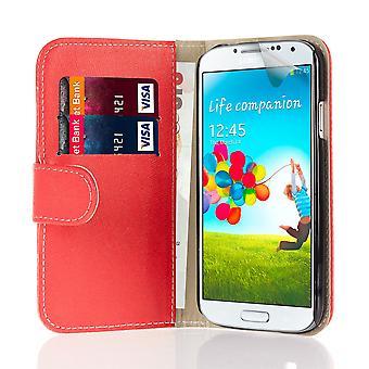 Libro de caja de cartera + stylus para Samsung Galaxy S4 Active i9295 - rojo