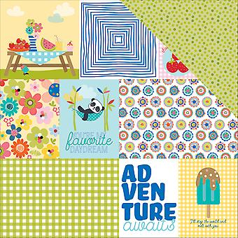 Popsicles & Pandas Double-Sided Cardstock 12