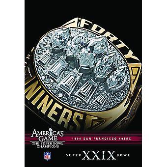 NFL Amerika spil: 1994 49Ers (Super Bowl Xxix) [DVD] USA importerer