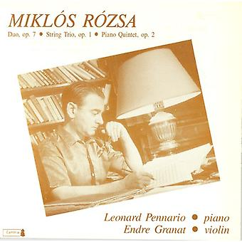 M. Rozsa - Chamber Music by Miklos Rozsa [CD] USA import
