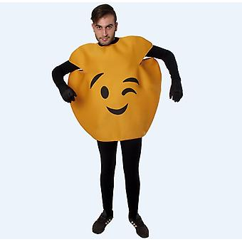 Zwinkernes emoticon smilie Smiliekostüm costume one size