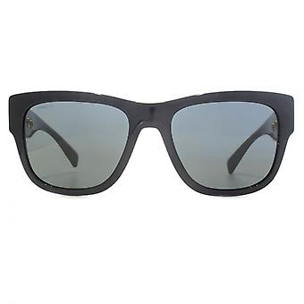 Versace Rock Ring Square Sunglasses In Black