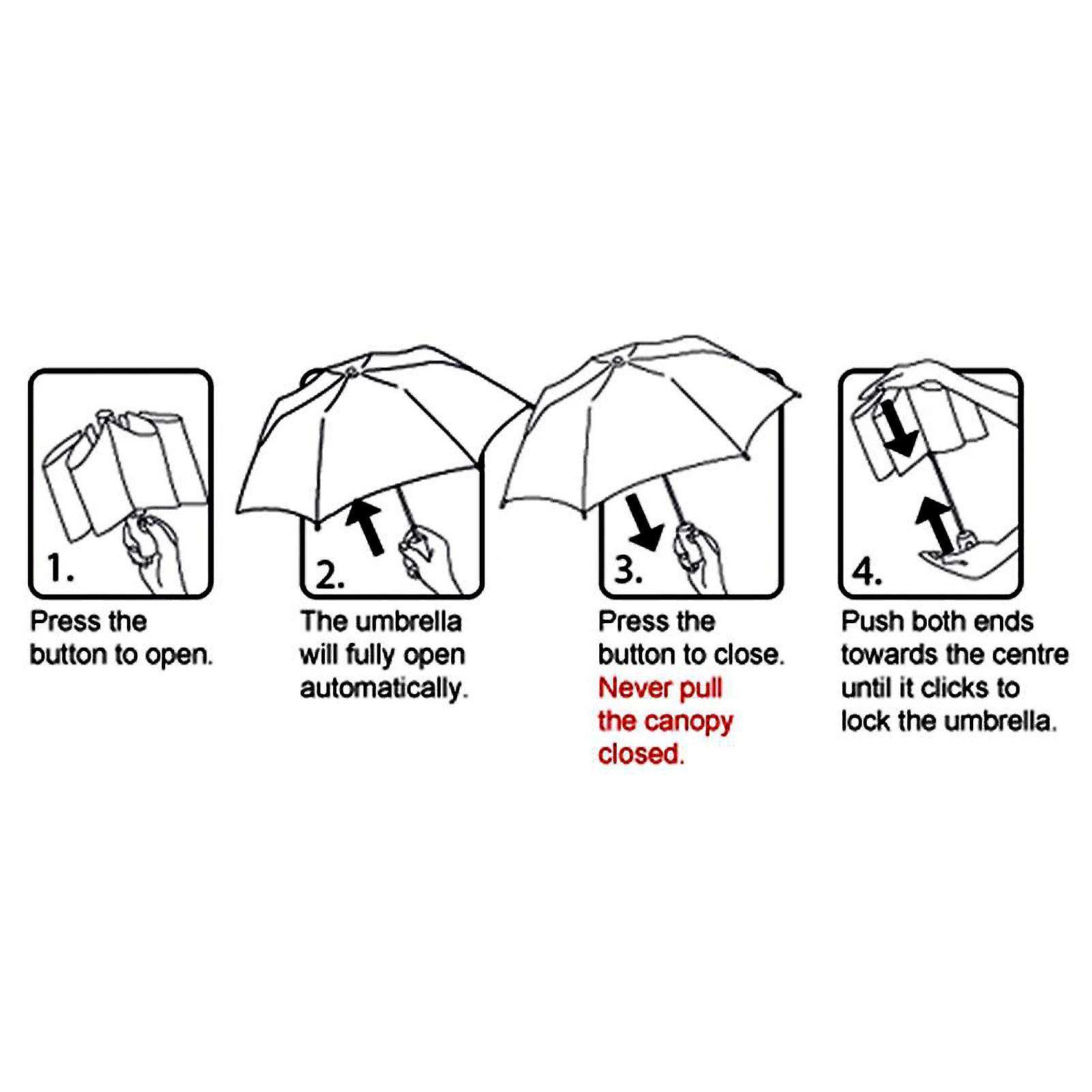 AMOS Auto abra y cierre plegable paraguas - marina de guerra
