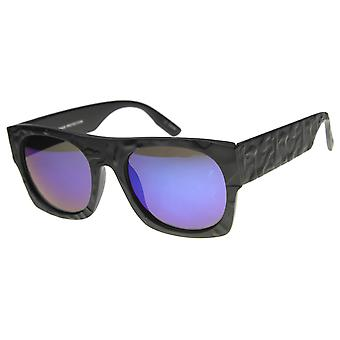 Unisex Rectangular Sunglasses With UV400 Protected Mirrored Lens