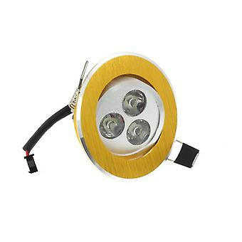I LumoS High Quality Epistar 3 Watts Gold Circle Aluminium Pure White LED Tiltable Recessed Spot Down light