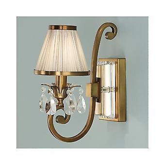 Interiors 1900 Oksana Brass Single Wall Light, Beige Shade
