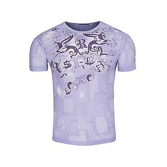 RUSTY NEAL form shirt men's T-Shirt violet with Figure