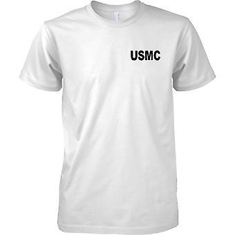 USMC United States Marine Corps - Wörter - Kinder Brust Design T-Shirt