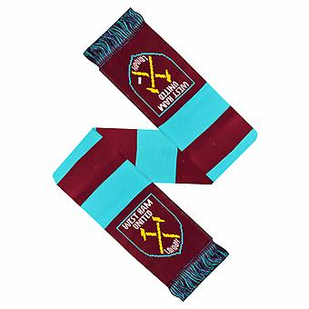 West Ham United FC Official Crest Design Bar Scarf