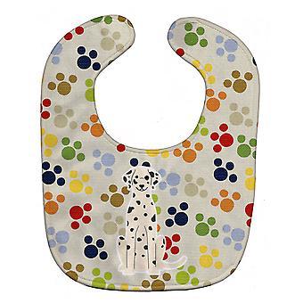 Carolines Treasures  BB5926BIB Pawprints Dalmatian Baby Bib