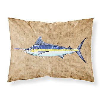 Carolines Treasures  8818PILLOWCASE Blue Marlin Moisture wicking Fabric standard