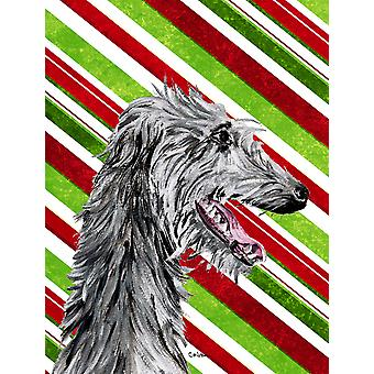 Scottish Deerhound Candy Cane Christmas Flag Canvas House Size