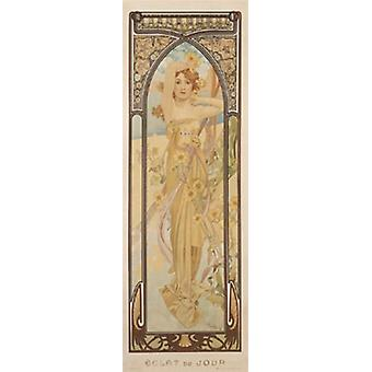 Day Poster Poster Print by Alphonse Mucha
