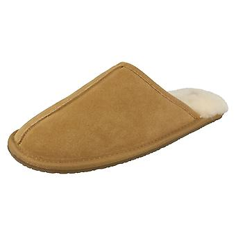 Mens Clarks Mule Slippers Crackling Fire