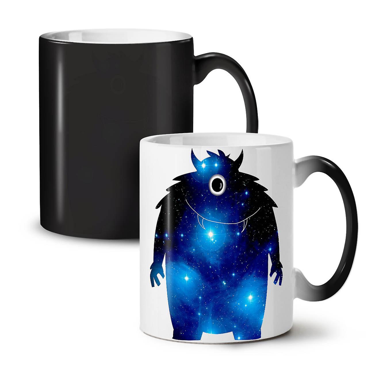 Nouvelle Étoiles Thé Tasse Monster Couleur 11 Noir Céramique Galaxy OzWellcoda Changeant Café ikXuPZO