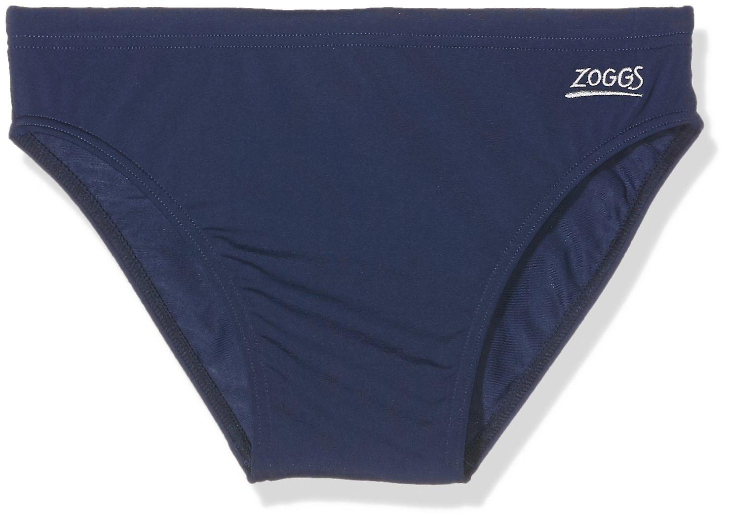 Zoggs Kid's Cottesloe Racer Swimming Trunks in Navy - Aqualast Fabric for 12-13 Years