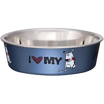 Bella Bowl Expressions-Small-I Love My Dog LP7706