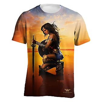 Wonder Woman Mens Sunset Pose T-Shirt