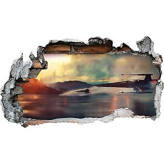 GNG X WING from Starwars Storm Smashed Wall Decal Poster 3D Art Stickers Vinyl Room