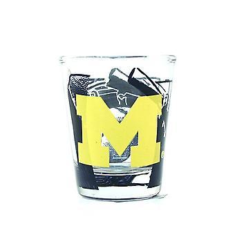 Vetro di colpo Michigan Wolverines NCAA