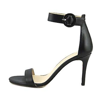 Marc Fisher Womens Bettye Leather Open Toe Casual Ankle Strap Sandals