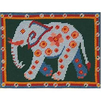 Emily's Elephant Needlepoint Canvas