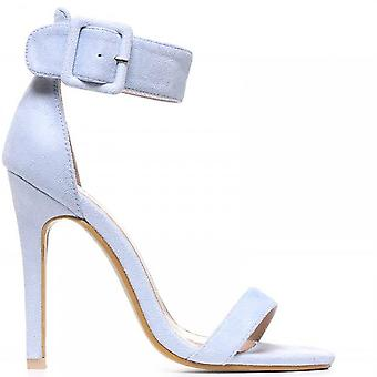 Shoe Closet Ladies Light Blue ED97 Stilettos Ankle Strap Peep Toes Strappy Sandals High Heels