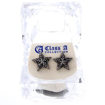 Iced out bling earrings box - HOT STAR black