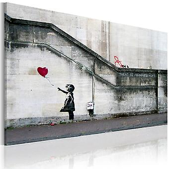 Artgeist Canvas Print There is always hope Banksy (Decoration , Pictures / Frames)