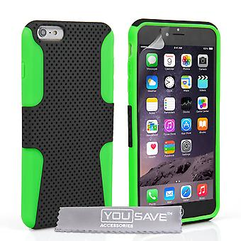 Iphone 6 Plus And 6s Plus Mesh Combo Gel Case - Green