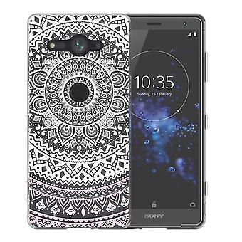 Sony Xperia XZ2 kompakte Mandala TPU Gel Case - weiß