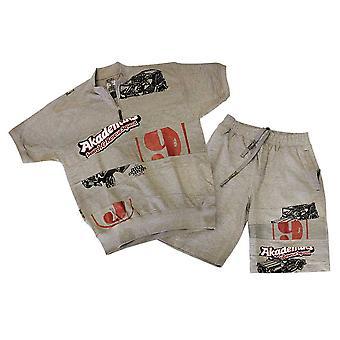 Akademiks Jersey Shorts Grey