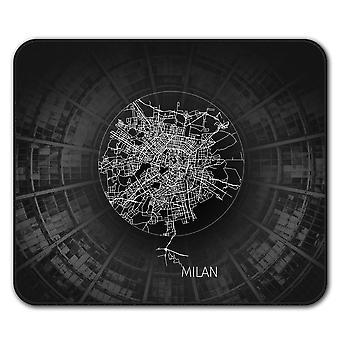 Milan Map  Non-Slip Mouse Mat Pad 24cm x 20cm | Wellcoda