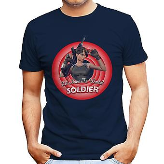 Fortnite Soldier Lets Save The World Men's T-Shirt