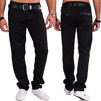 Men's Coated Denim gloss glossy black slim fit pants style casual jeans