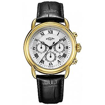 Rotary Mens Canterbury Chronograph Leather GS05333/21 Watch