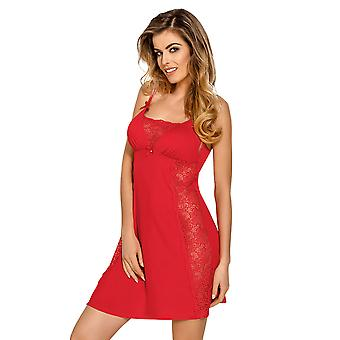 Nipplex CLA-CZE-KOS Frauen Claudia Red Lace Night Gown Loungewear Nachthemd