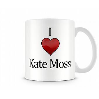 Kate Moss imprimé J'aime la tasse