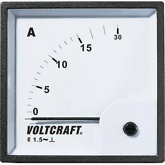 Analogue rack-mount meter VOLTCRAFT AM-72X72/15A 15 A Moving iron